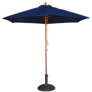 Bolero Round Navy Blue Outdoor Umbrella 3m high (MEDIUM)