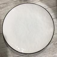 """10.5"""" Dinner Plate White/Green"""