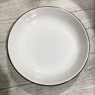 "9"" Rice Plate White/Green"