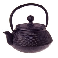 Cast Iron Teapot 500ml - Fine Hobnail Black
