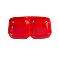 DIVIDED DISH 85X70MM - RED