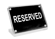"Chef Inox Buffet Sign- Acrylic W/S/S Magnet Plate ""Reserved"""
