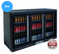 Three sliding door bar cooler - SC316SD