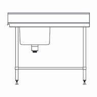 Inlet 1200 S/S bench - Entry Left Side