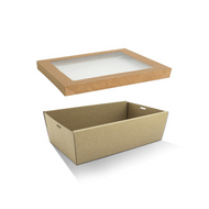 Rectangular Catering Tray and Lid - MEDIUM (360x255x80mm)