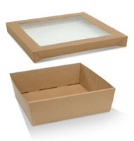 Square Catering Tray and Lid - MEDIUM (250x250x80mm)