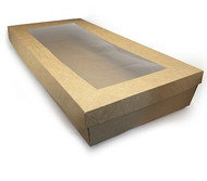 Rectangular Catering Tray and Lid - LARGE (560x255x80mm)