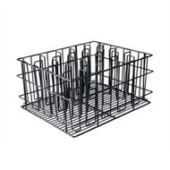 30 COMP GLASS BASKET -BLACK PVC COATED