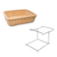 BREAD BASKET-RECT., POLYPROP 360x270x90mm