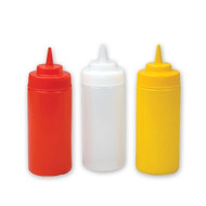 SQUEEZE BOTTLE-480ml     WIDE MOUTH-YELLOW