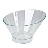 DISPOSABLE LOW ROUND SLANT DISH -195ml x10