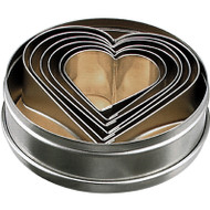 CUTTER SET -HEART 6pc