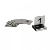FLAT TABLE NUMBER SET-18/10, 50x50mm     1-10