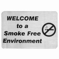 WALL SIGN- E. SMOKE FREE SIGN 18/10 120x80mm