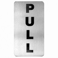 WALL SIGN- K. PULL 18/10 110x60mm