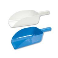 ICE SCOOP-PLASTIC,FLAT BOTTOM,WHITE