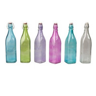 GLASS BOTTLE-SQUARE, 1.0lt-BL Dozen