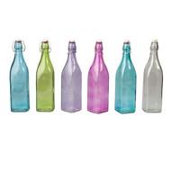 GLASS BOTTLE-SQUARE, 1.0lt-PK Dozen