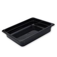 POLYCARB. FOOD PAN-1/2 SIZE, 200mm BLACK