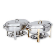 OVAL CHAFER-S/S   COMPLETE W/BRASS HDL.