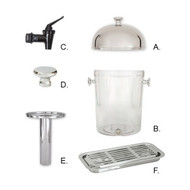 SPARE PART FOR JUICE DISPENSER, ACRYLIC BODY