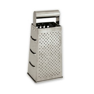 S/S Grater 4 Sided With Handle - 230mm