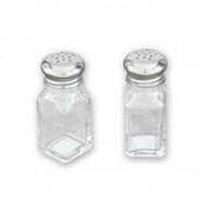 SALT & PEPPER SHAKER -SQUARE GLASS (BOX 12)