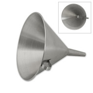 FUNNEL-18/10, WITH STRAINER ,160mm DIA