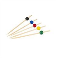 SKEWER-ASSORTED COLOURS,125mm (100pcs/PACK)