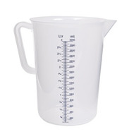MEASURING JUG-PP, GRADUATED, 1.0lt