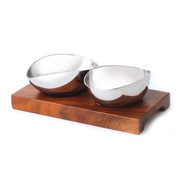 TAPAS SET-WITH 2 S/S BOWLS 165x85mm