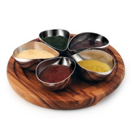 CONDIMENT SET-WITH 5 S/S BOWLS 228mm