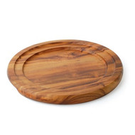 WOODEN TRAY-ROUND, 228mm