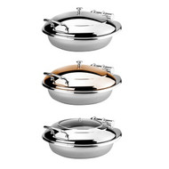 INDUCTION CHAFER-2/3 SIZE, WITH GLASS AND STAINLESS STEEL LID
