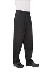 Black Basic Baggy Chef Pants