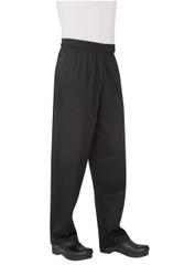 Black Basic Baggy Chef Pants