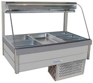 Roband CRX23RD CURVED GLASS COLD FOOD BAR. INCLUDES 6 PANS. Weekly Rental $73.00