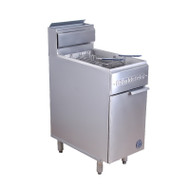 Goldstein TGF-1M/400L SINGLE PAN TURBO GAS FRYER 28 litre. Weekly Rental $46.00