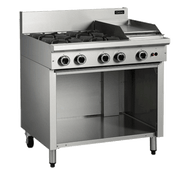 Cobra C9C 4 BURNER + 300 MM GRIDDLE RIGHT SIDE WITH OPEN CABINET. Weekly Rental $35.00