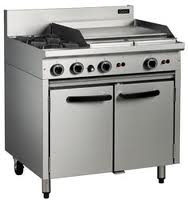 Cobra CR9B GAS RANGE STATIC OVEN -2 BURNER & 600mm GRIDDLE. Weekly Rental $49.00