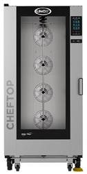 Unox XEVL-2021-GPRS ChefTop Mind Maps PLUS Series 20 2x1Gn Tray Gas Combi Oven. Weekly Rental $454.00