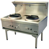 Goldstein - CWA2 -  AIR COOLED TWO RING GAS WOK. Weekly Rental $56.00