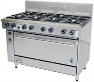 Goldstein - PF-8-40FF - Gas 8 Burner & Fan Forced Gas Convection Oven. Weekly Rental $ 115.00