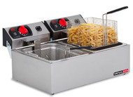 Anvil Axis FFA0002 DOUBLE PAN DEEP FRYER - 2 X 5 LITRE PANS. Weekly Rental $7.00