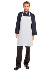 Bib Apron No Pocket - White