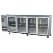 Skope BB780X 4SW BACKBAR CHILLER 4 DOOR ( WHITE ) 780 LITRES. Weekly Rental $71.00