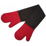 RED & BLACK SILICONE DOUBLE OVEN GLOVE