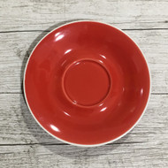 Red Cappuccino Saucer - 141mm