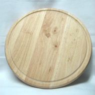 TIMBER SERVING BOARD -LARGE ROUND