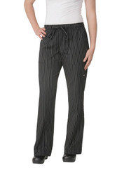 Womens Black Pinstripe Pants